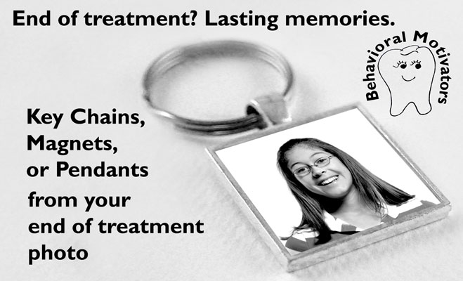 photo jewelry, keychain pendant with patient photo sealed in a silver plated bezel